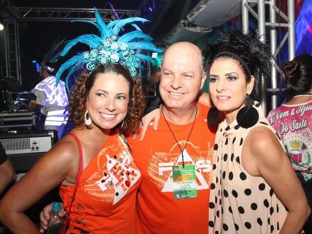 Renata Araújo, Marcelo Castello Branco e Fernanda Abreu