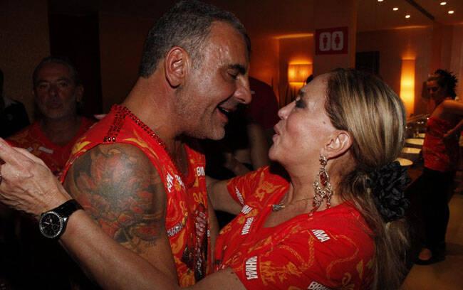 Christian com Susana Vieira