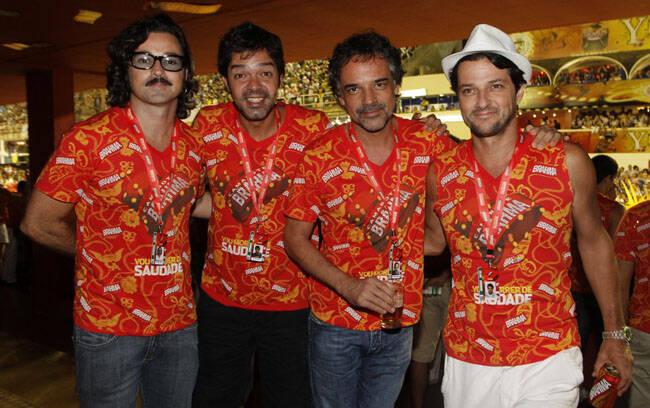 Emilio Orciolo, Bruno Mazzeo, Angelo Antônio e Marcelo Serrado