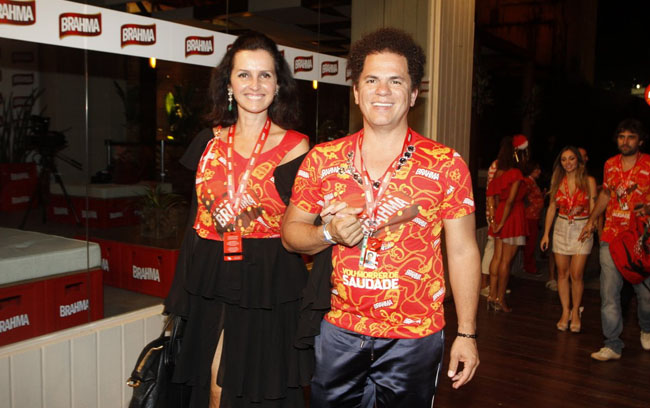 O artista plástico Romero Britto  e Alina Kennedy