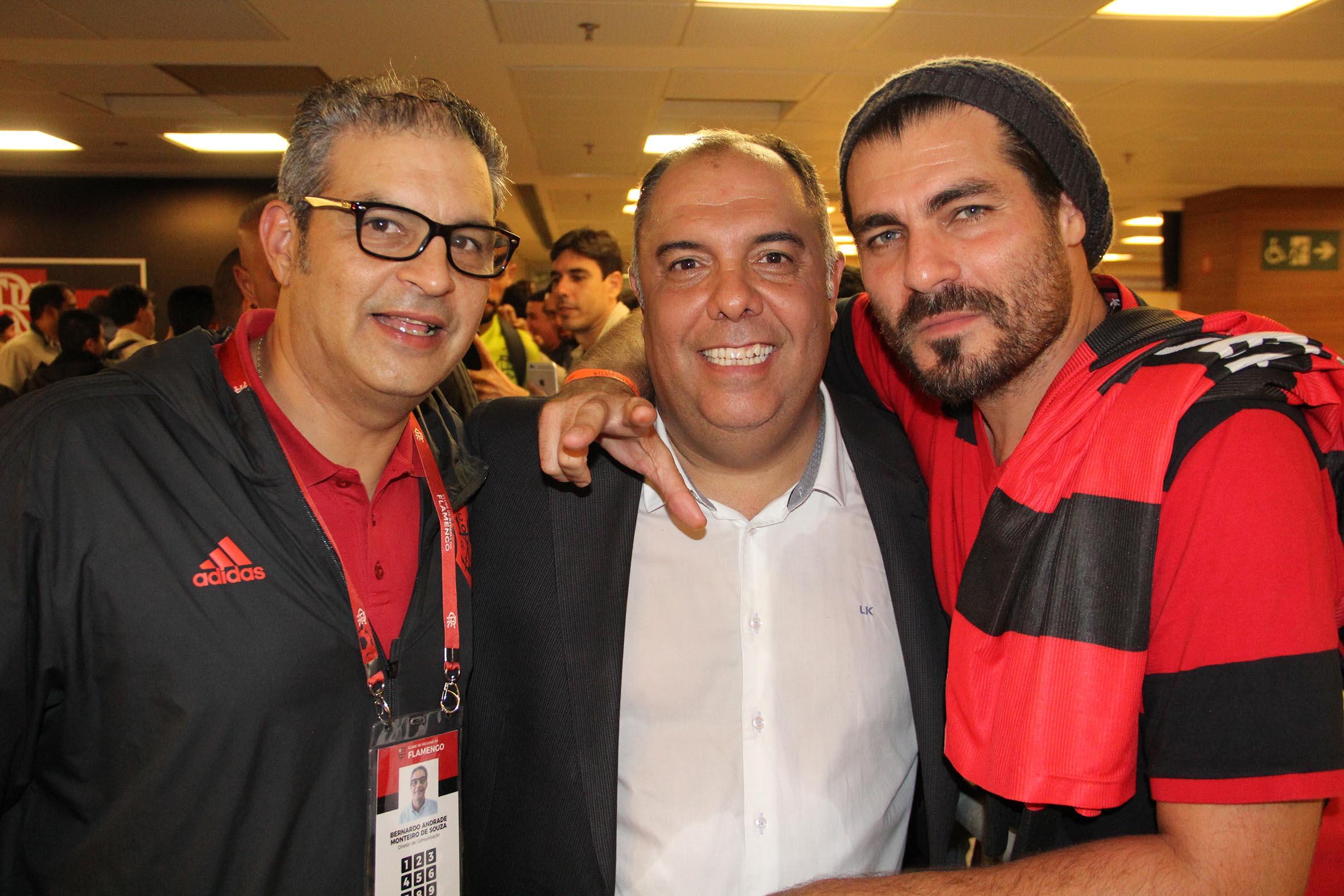 Bernardo Monteiro, Marcos Brás e Thiago Lacerda /Foto: Paulo de Deus