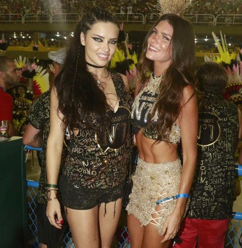 Adriana Lima e Lou Montenegro
