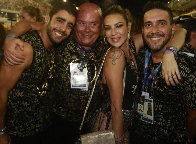 Pedro Scooby, Victor Oliva, Luana Piovani e André Marques