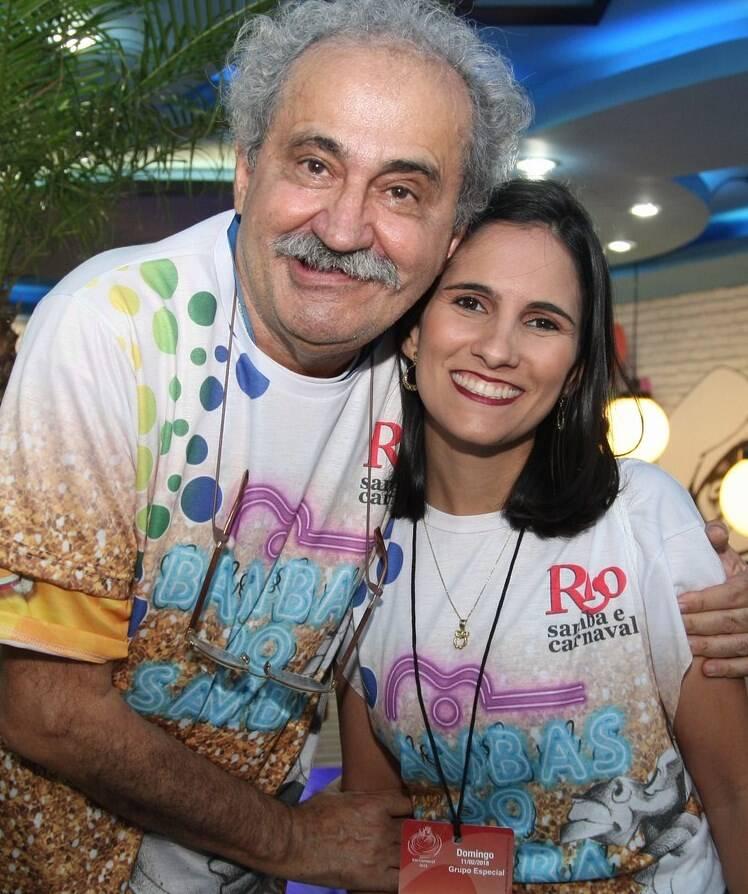 Ancelmo Gois e a filha, Juliana