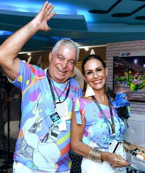 O casal Afonso e Beth Pinto Guimarães