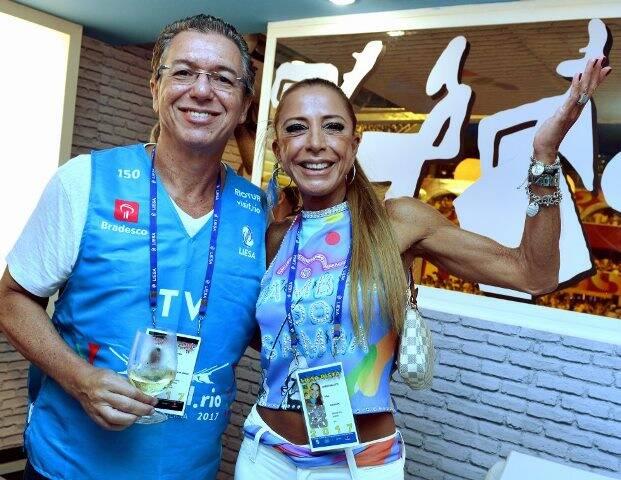 Boninho e Cristina Leite