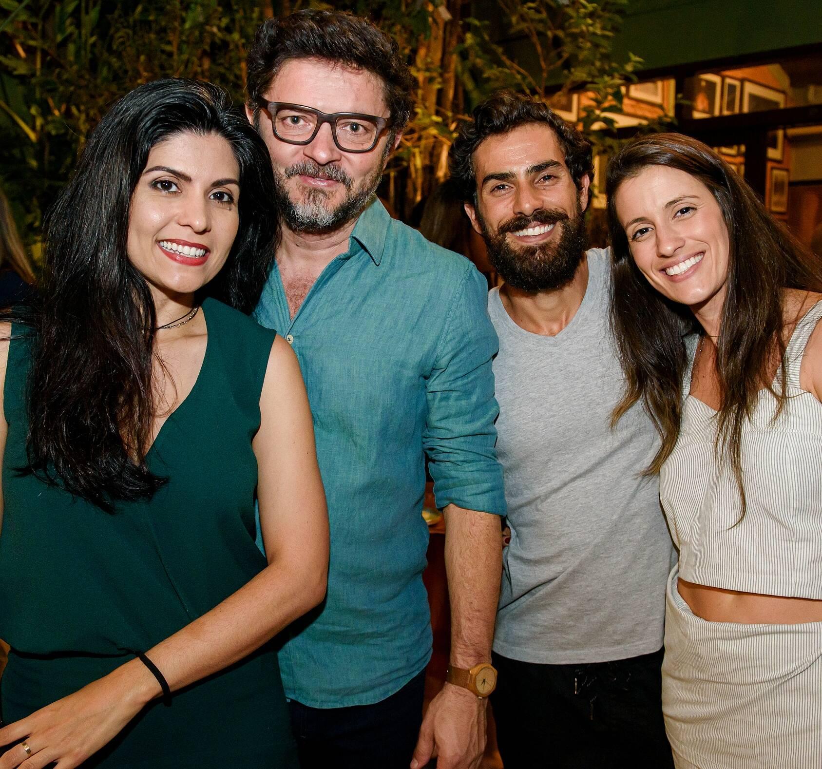 Caroline Preta, Paulo Alves, Marcel Leite e Fernanda Andrade / Foto: RicaLucas