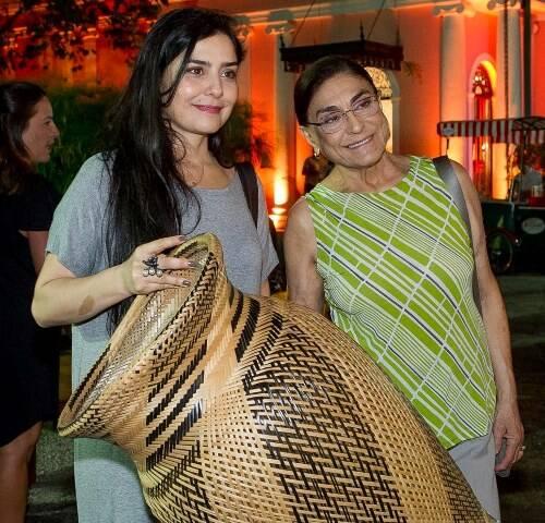 Letícia Sabatella com a mãe Marilza