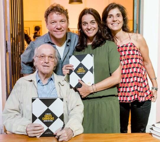 Rodolfo Garcia, Claude Troisgros, Luiza Figueira de Mello e Ana Fleming