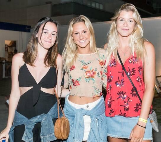 Giulia Müller, Camila Ganon e Sophia Abreu
