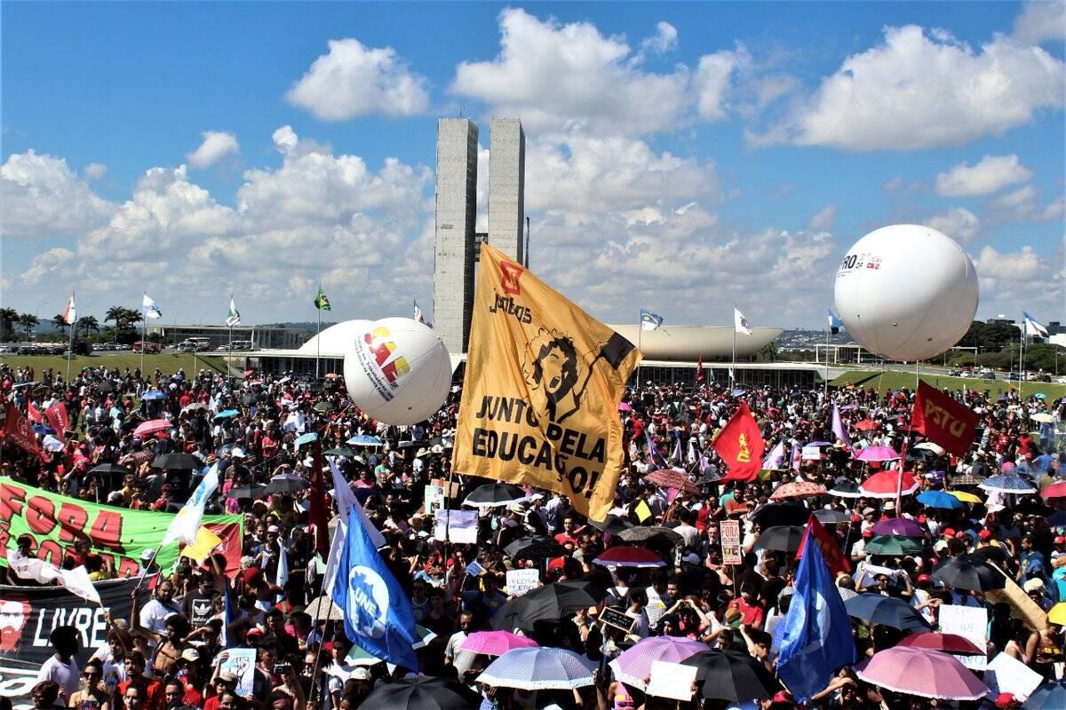 Os protestos em Brasília /Foto: Reprodução