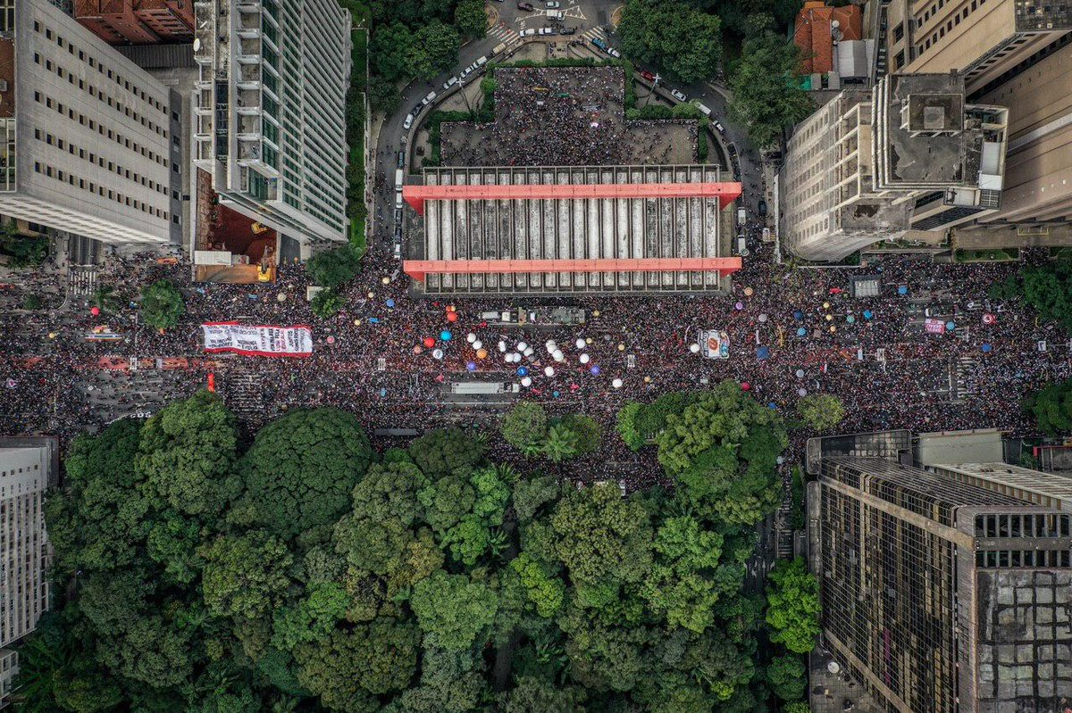 A Av. Paulista lotada /Foto: Mídia Ninja