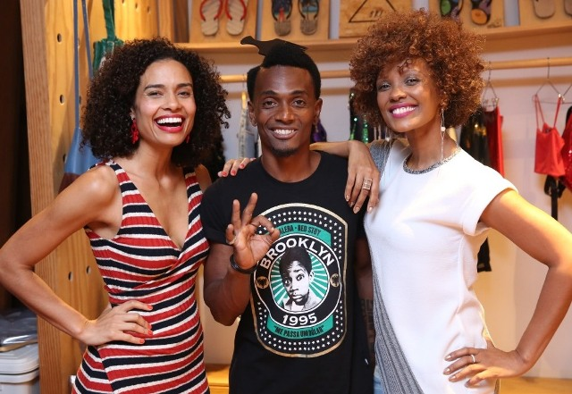 Aisha Jambo, Juninho Duvale e Isabel Fillardis