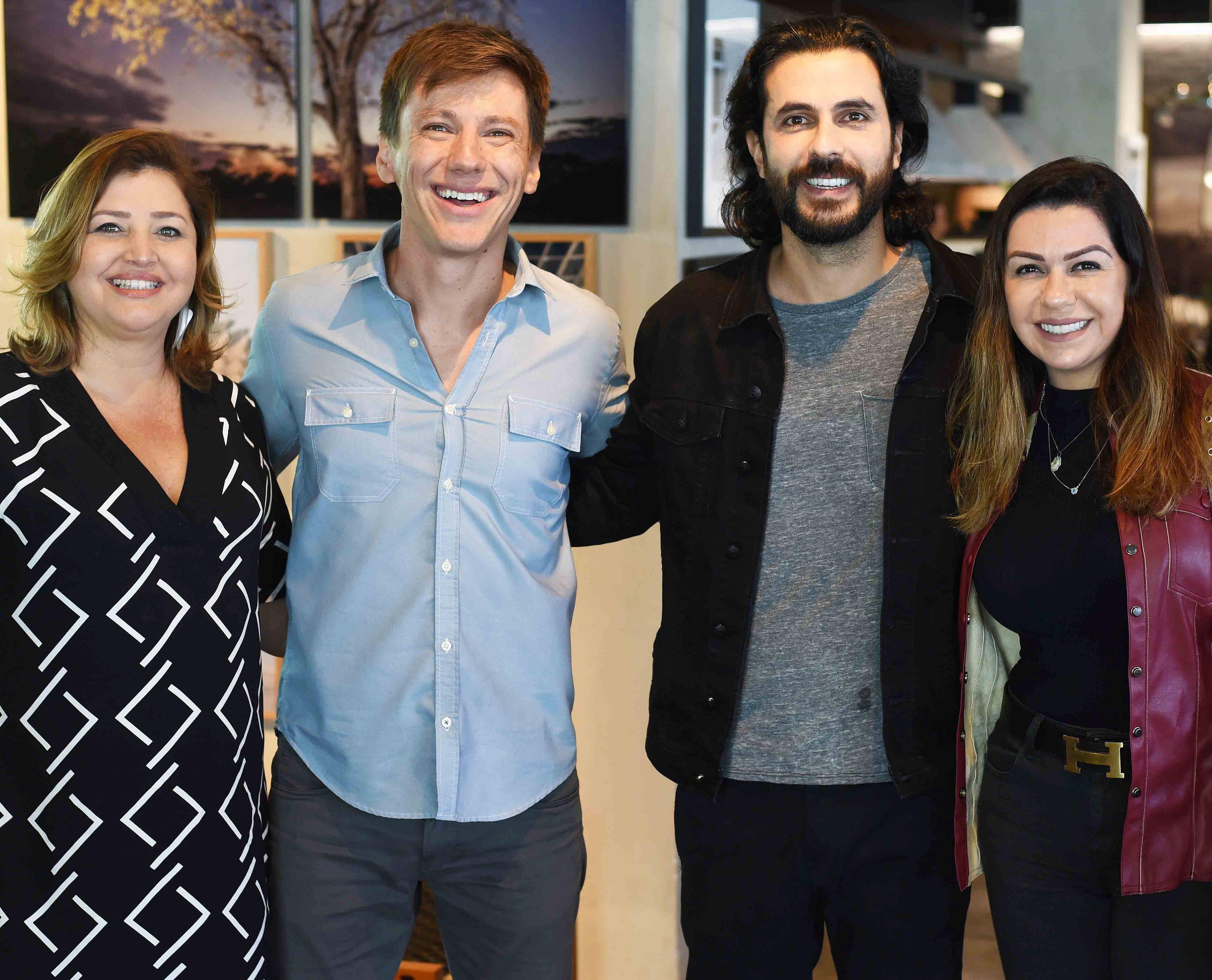 Andrea Zeitune, Felipe Suhre, Tutu Fernandes e Amanda Ambrosio  / Foto: Ari Kaye