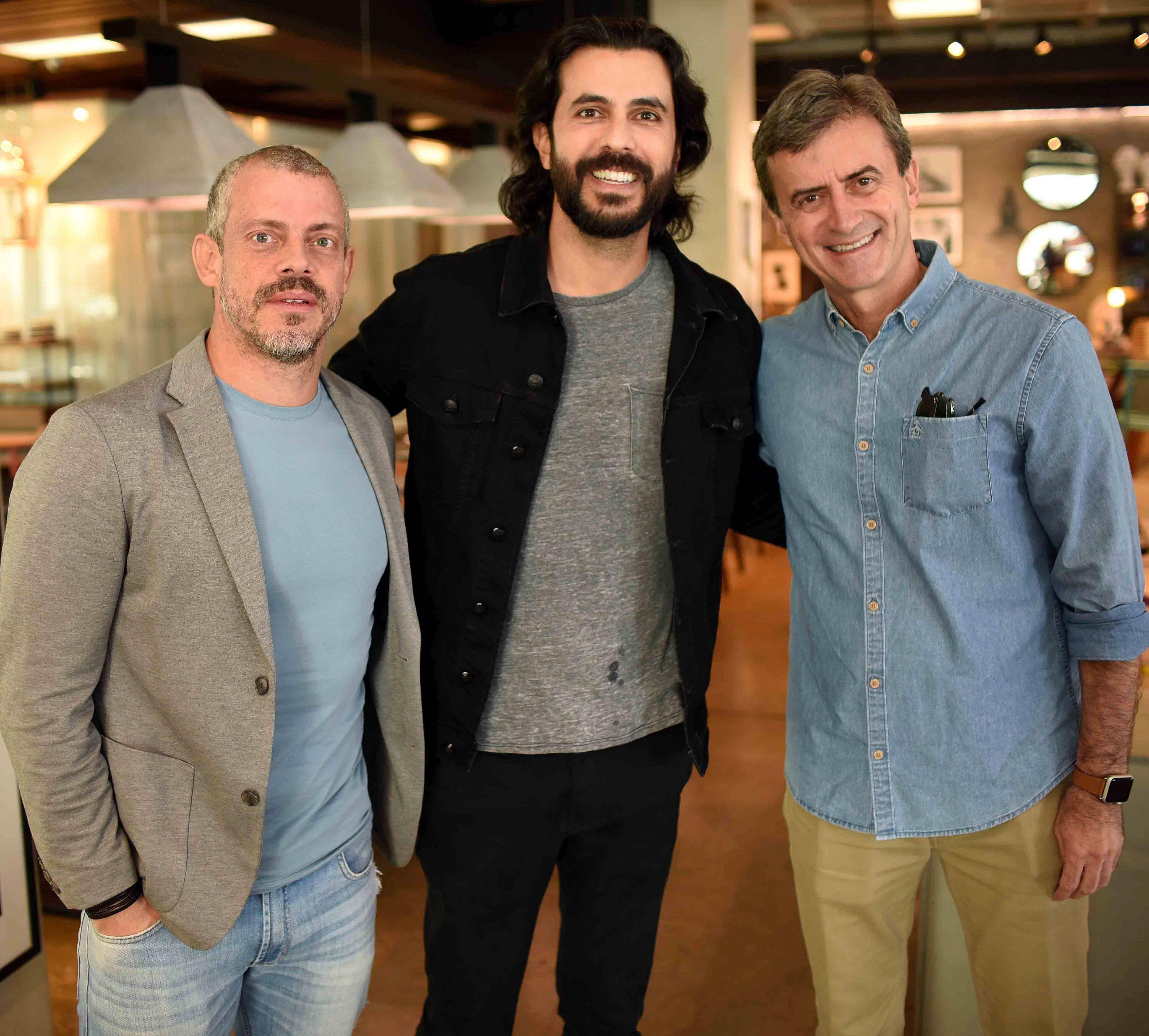 Hugo Schwartz, Artur Fernandes e Juarez Farias  / Foto: Ari Kaye