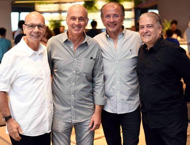 Caco Borges, Mauricio Prochnik, David Bastos e Luiz Marinho