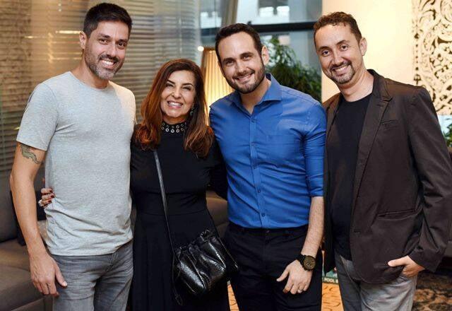 Zeca Rodarte, Lenora Lohrisch, Jorge Vasconcellos e Emerson Araújo