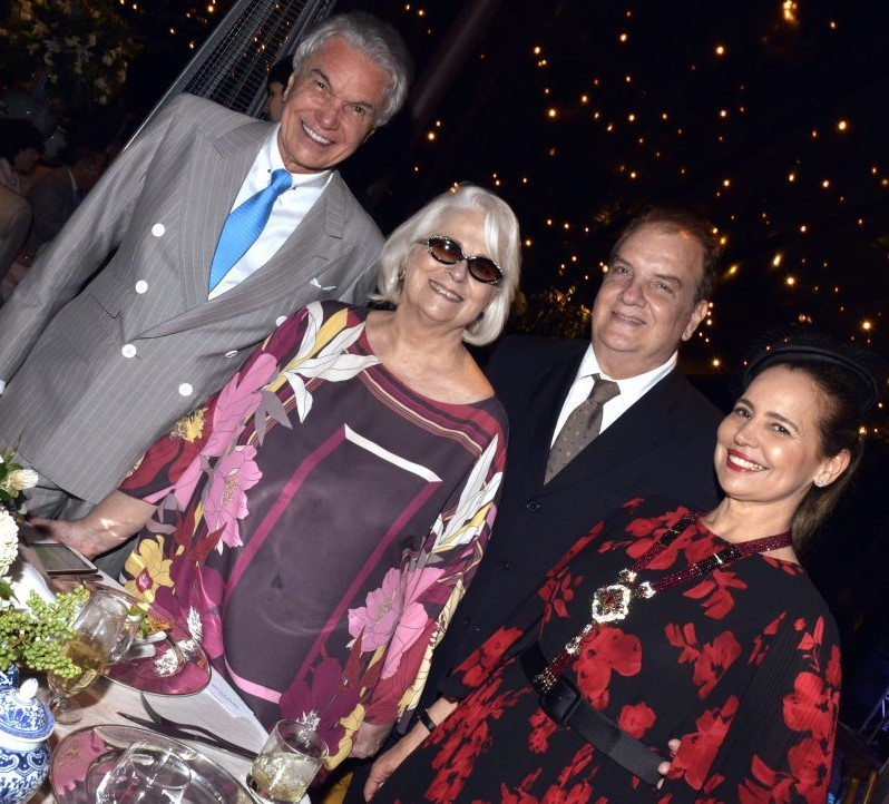 Volney Pitombo, Hildegard Angel, Ralwson de Thuin e Karmita Medeiros    /Foto: Cristina Granato