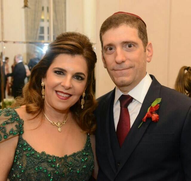 Andrea e Celso Niskier: pais da noiva