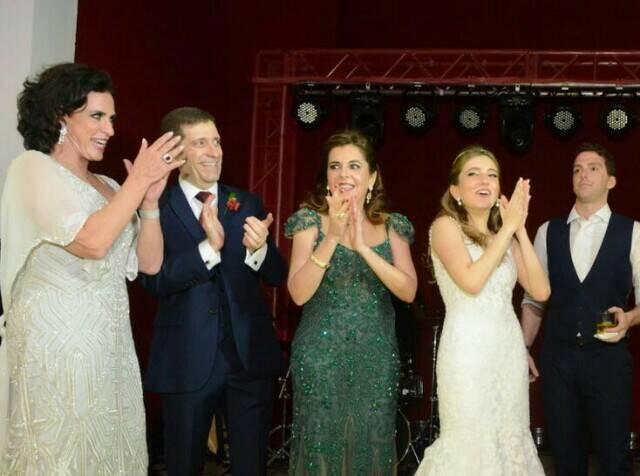 Giovanna e Felippe com Eliane Saadia e o casal Celso e Andrea Niskier
