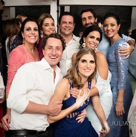 Rafaela Bibas, Karla Assed, André Barbosa, Olavo Pereira, Astrid Haegler, André e Daniela Duvivier com Roberta Bibas