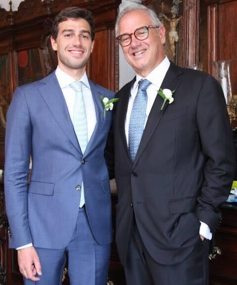 O noivo Luis Felipe Pereira da Silva com o pai, Fernando