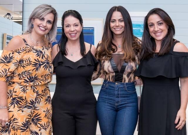 Débora Martinez, Jacira Pinheiro,mViviane Araújo e Mônica Kochen