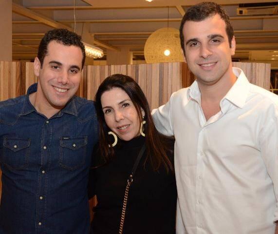 Bruno Crosman, Paola Ribeiro e Paulo Crosman