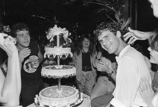 Cazuza em seu aniversário no Castel, em 1986