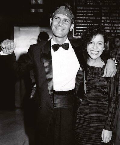 Cazuza e Bebel Gilberto durante o Prêmio Sharp de Música, no Hotel Nacional, em 1988