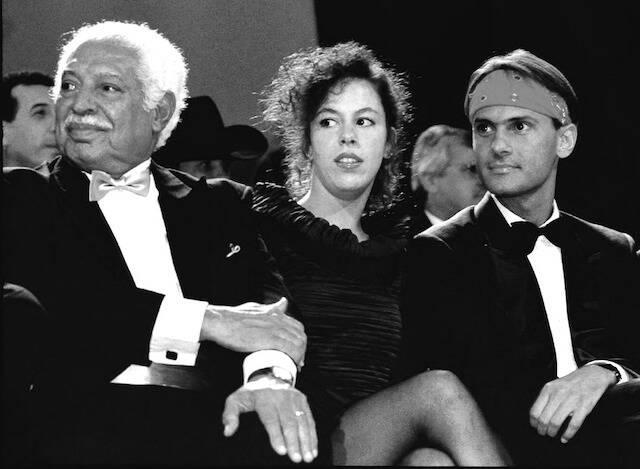 Dorival Caymmi, Bebel Gilberto e Cazuza durante o Prêmio Sharp de Música, no Hotel Nacional, em 1988