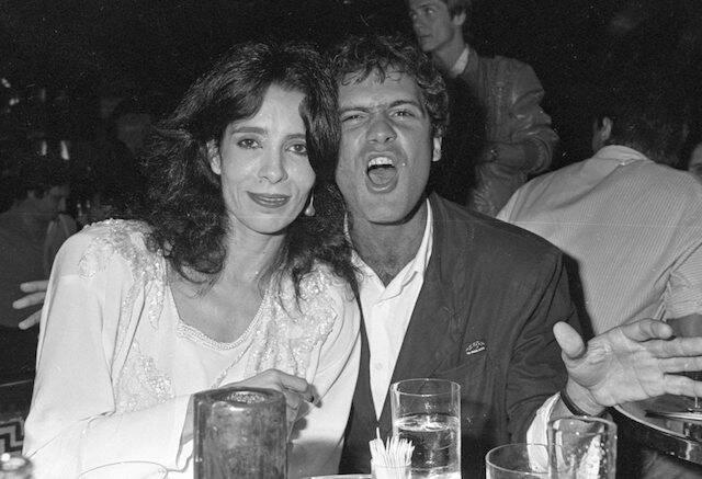 Liège Monteiro e Cazuza no aniversário de Christiane Torloni, em 1986
