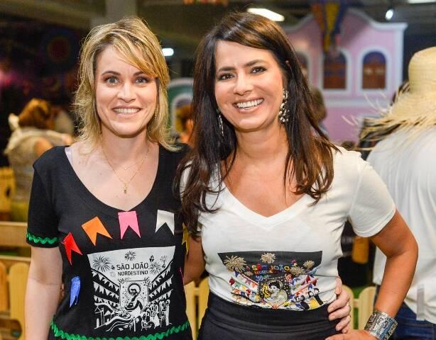 A superintendent do shopping Danielle Viana e Ione Costa