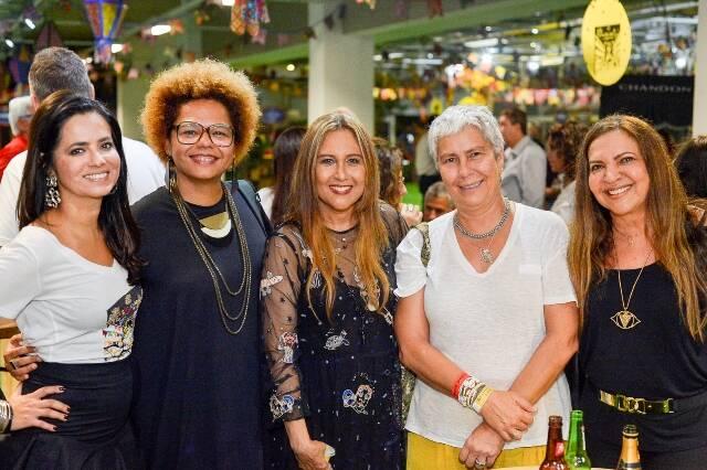 Ione Costa, DJ Lala K, Betânia Caneca, Adriana Didier e Mônica Silveira
