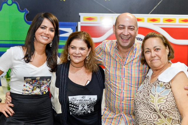 Ione Costa, Helena Bricio, César Santos e Irani Costa