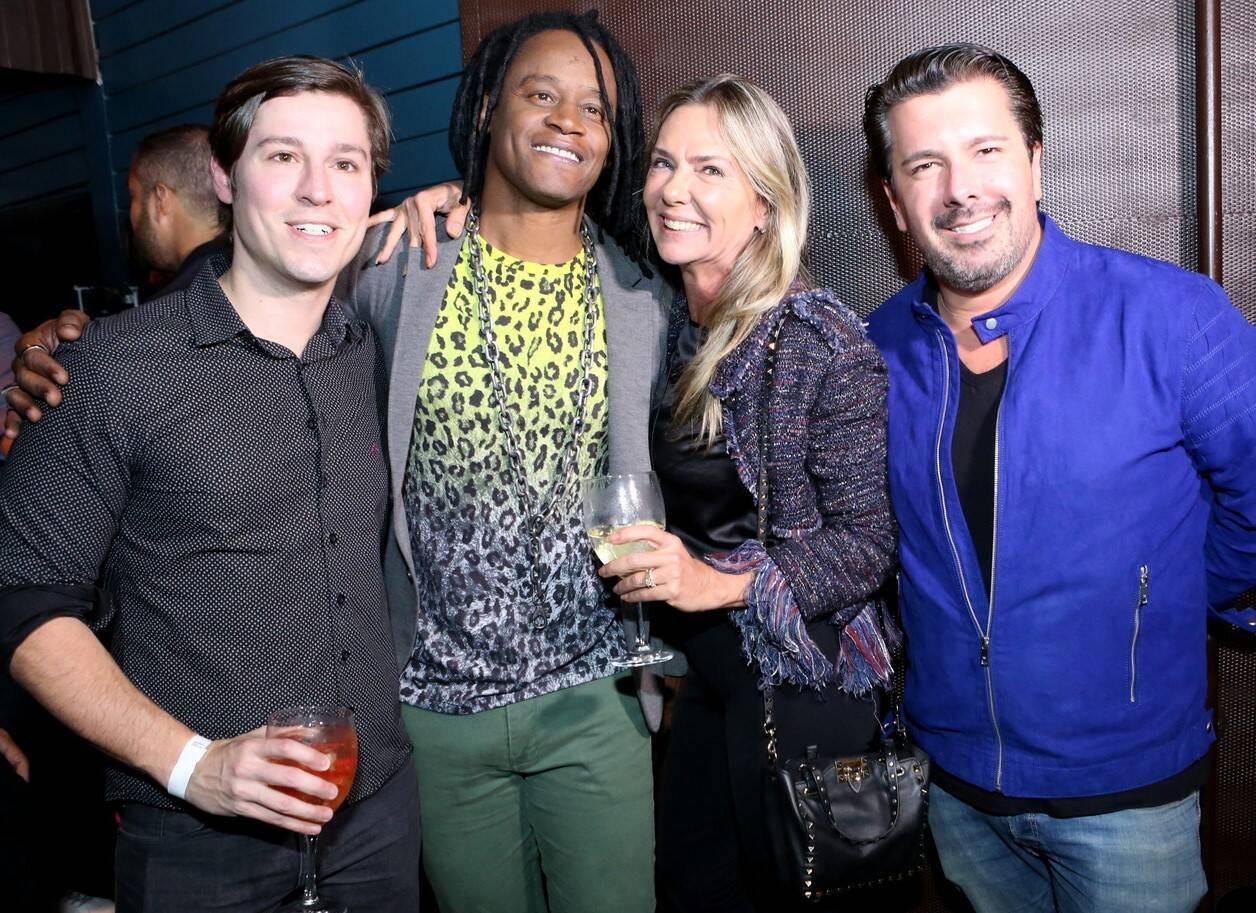 Gabriel Monteiro de Castro, Toni Garrido, Marcia Verissimo e André Ramos /Foto: Reginaldo Teixeira/CS Eventos