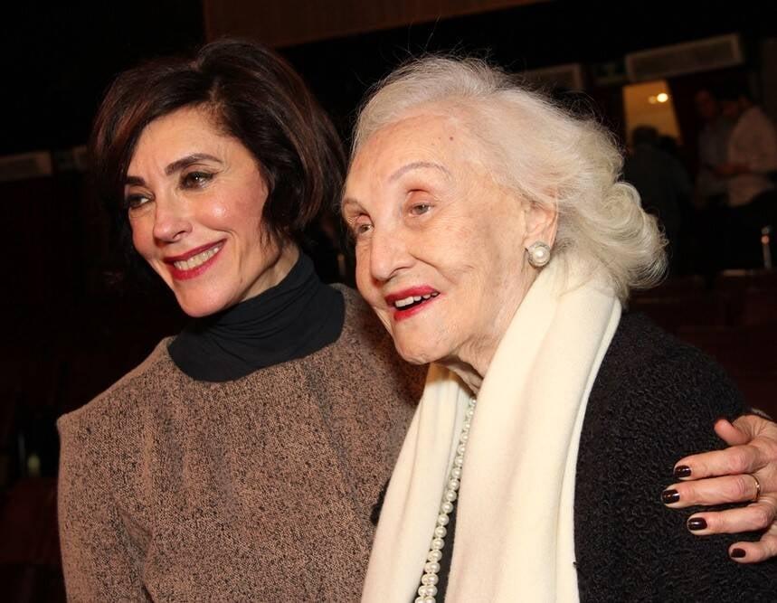 Christiane Torloni com a mãe, Monah Delacy /Foto: Leandro Menezes