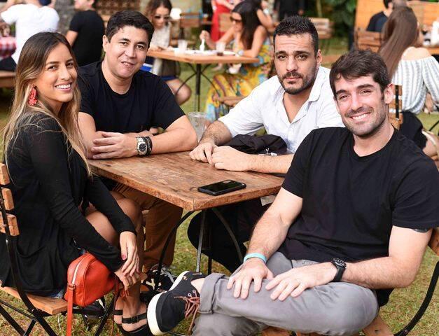 Carolina Ventura, Diógenes Queiroz, Fábio Batistella e Antônio Carlos Almeida