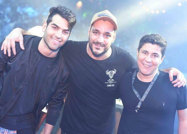 O DJ Lucce, Fábio Batistella e Diógenes Queiroz