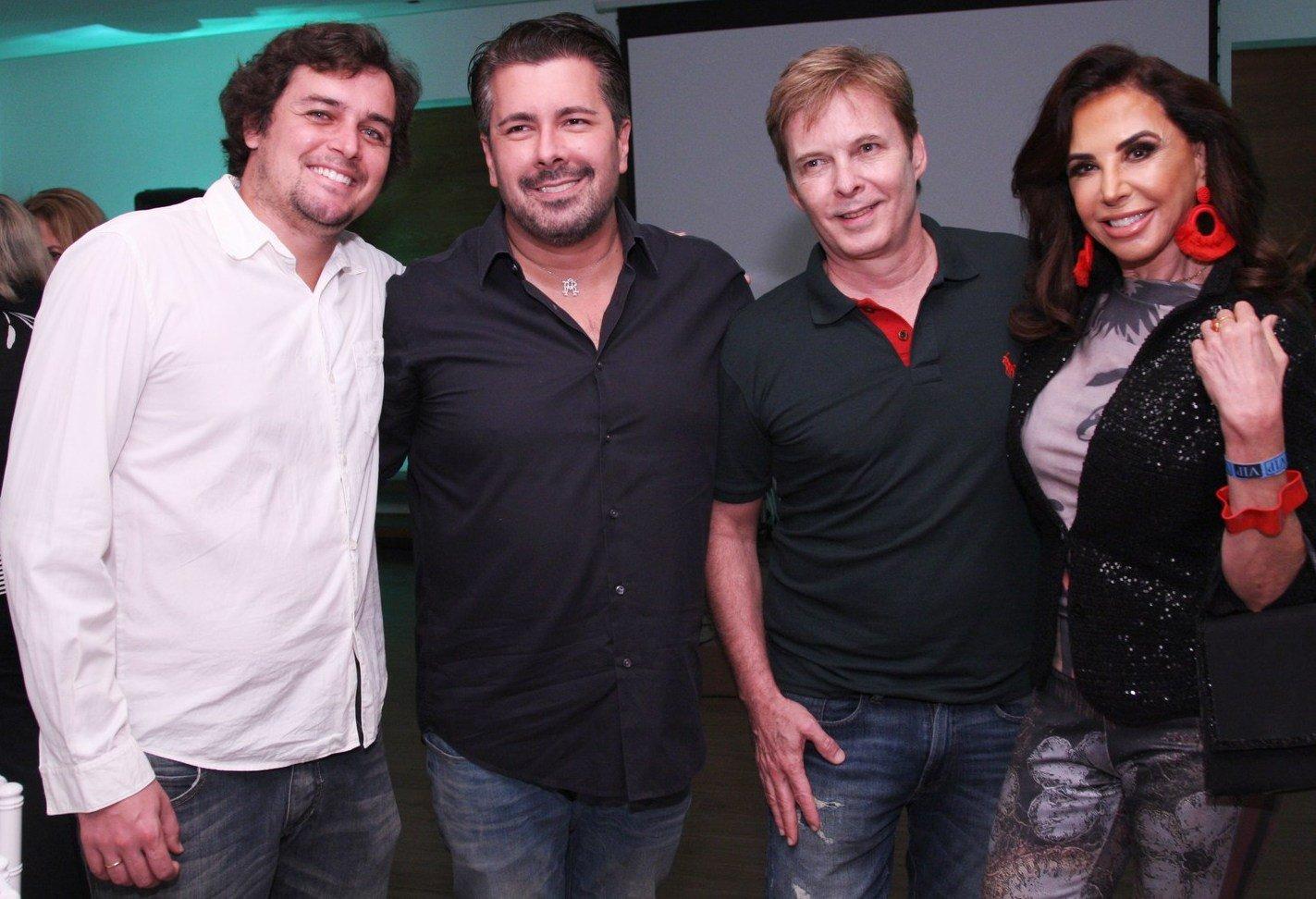 Felipe Dylon, André Ramos, Luiz Fernando Priolli e Claudia Alencar  - Fotos: Vera Donato