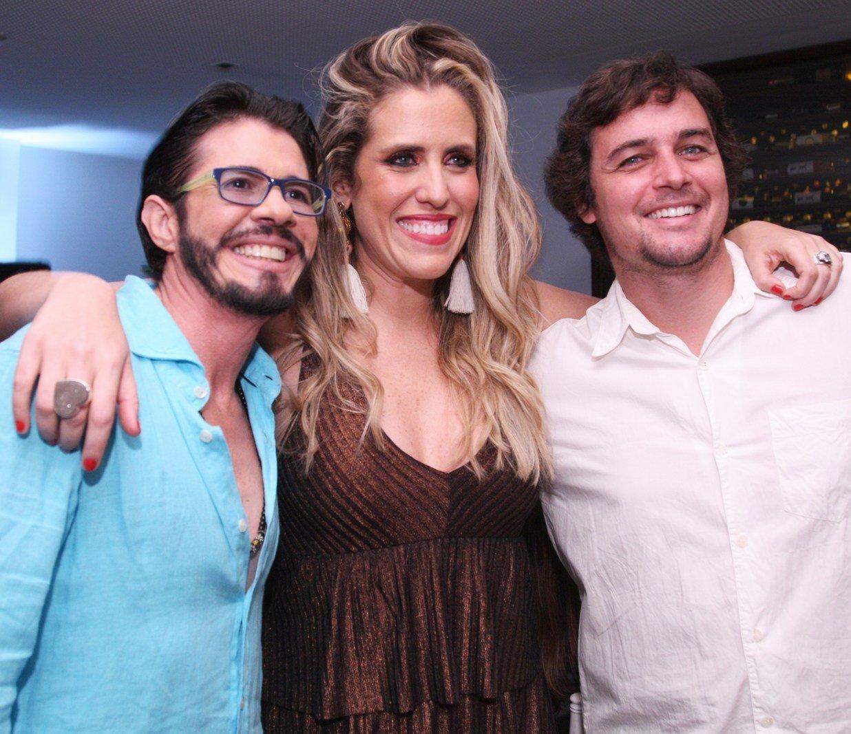 Neves Blue ,Bruna Barros e Felipe Dylon  - Fotos: Vera Donato