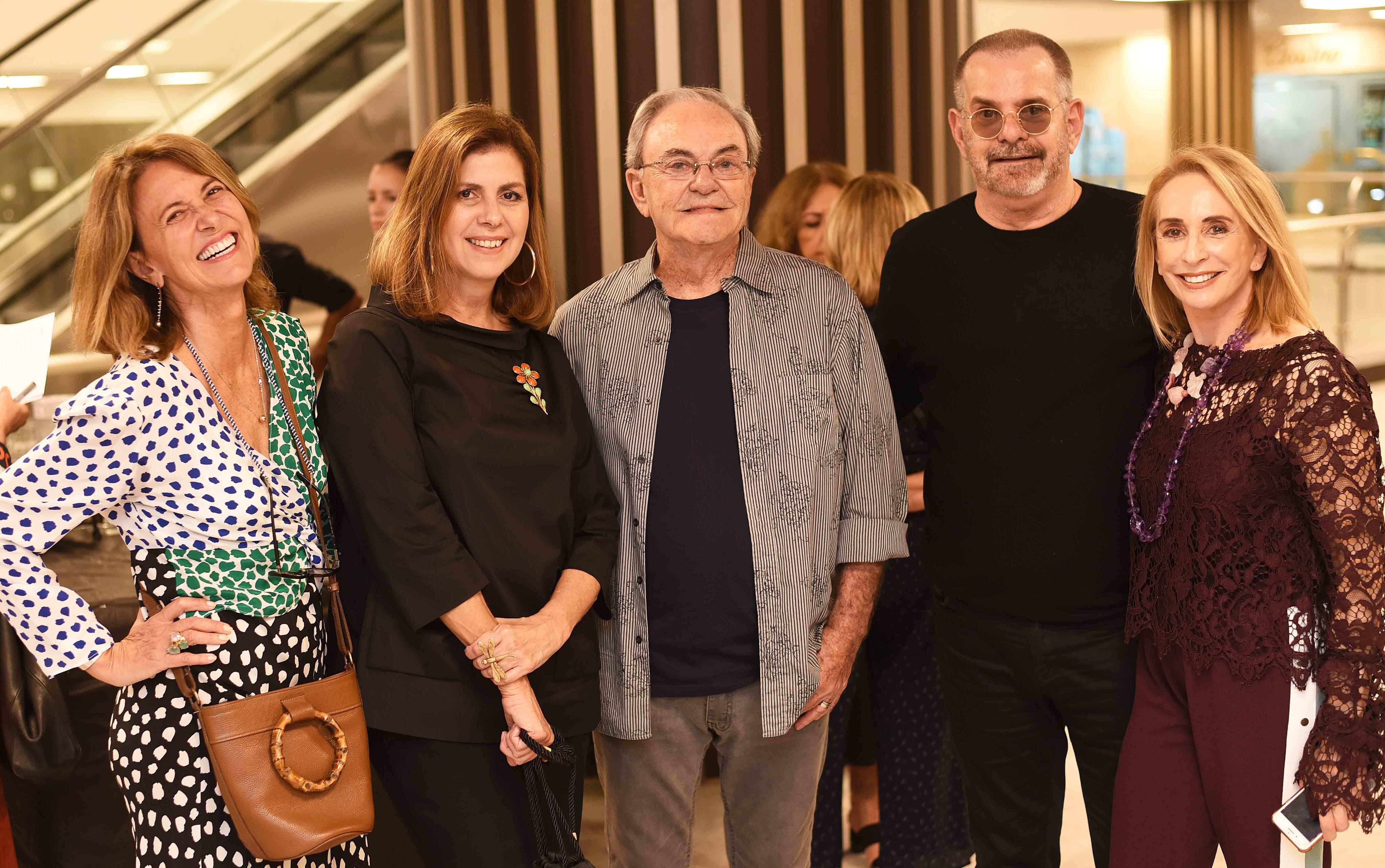 Stella Lutterbach, Naná Paranaguá, Geraldo Lamego, Eduardo Machado e Eliane Benchimol  /Foto: Ari Kaye