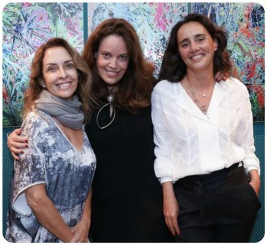 Rita Lessa, Isabel Brossolette Branco e Renata Charveriat