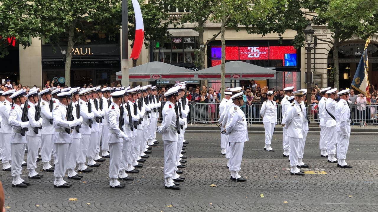 Os militares na parada francesa /Foto: Ariosto Amado