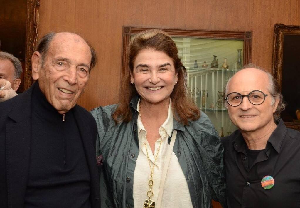 Israel e Lea Klabin com Márcio Doctors  /Foto: Marco Rodrigues