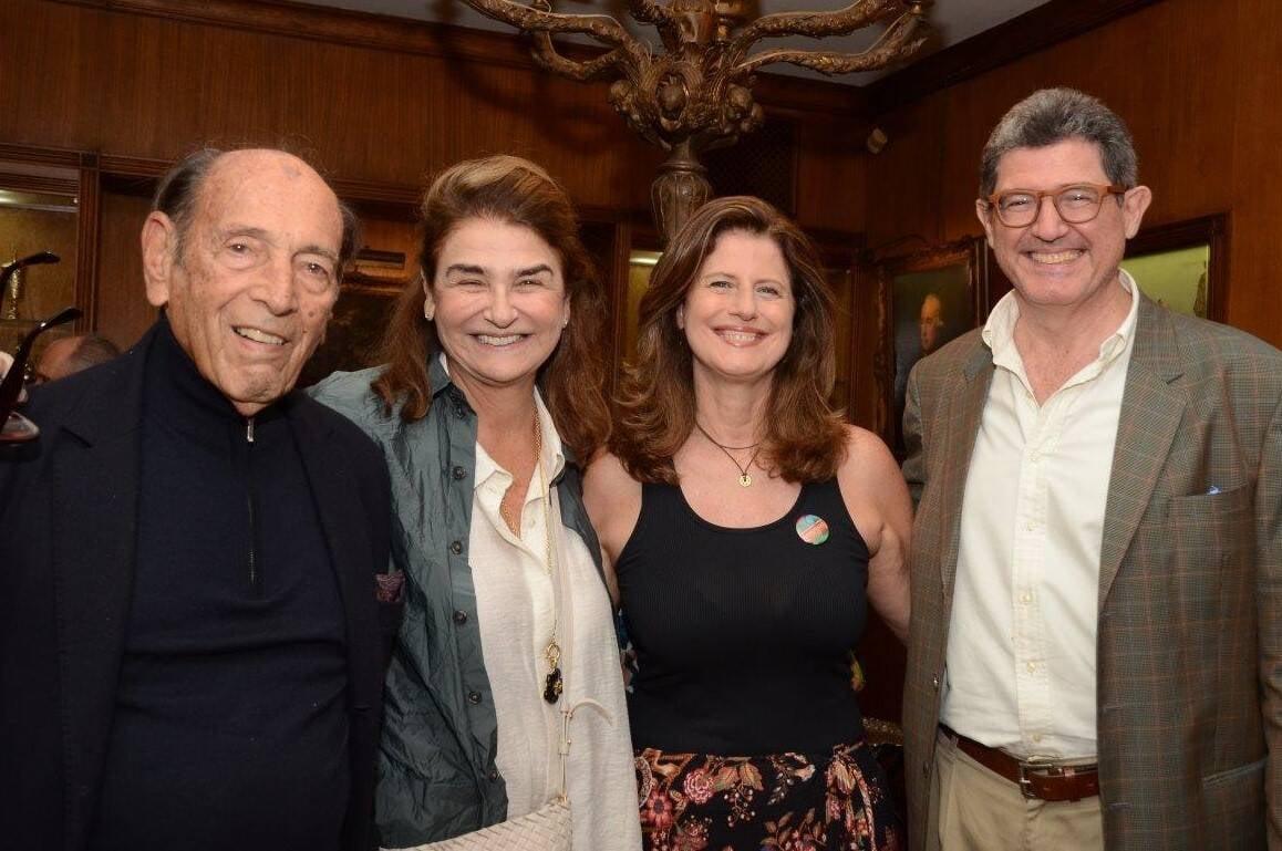 Israel Klabin, Lea Klabin, com os irmãos Ruth e Joaquim Levy   /Foto: Marco Rodrigues