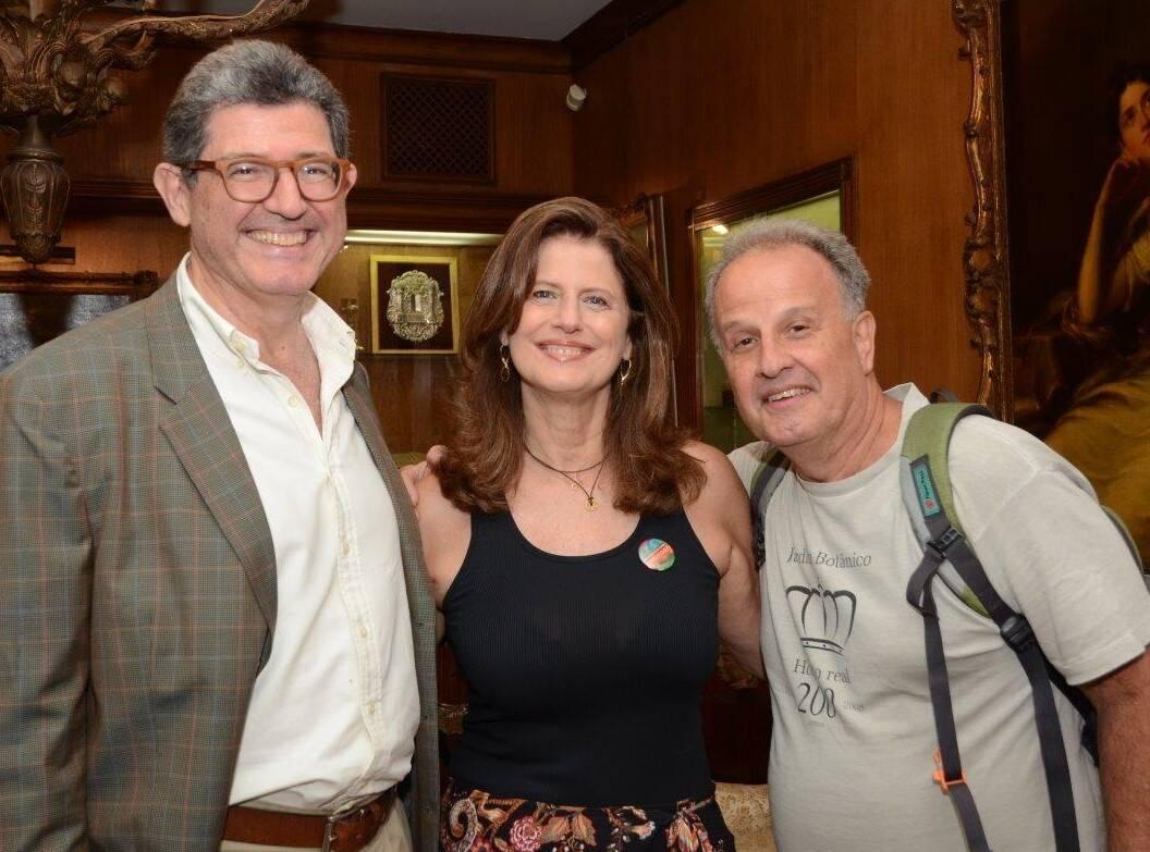 Joaquim Levy,  Ruth Nina Vieira Levy e Eduardo Cantidiano  /Foto: Marco Rodrigues