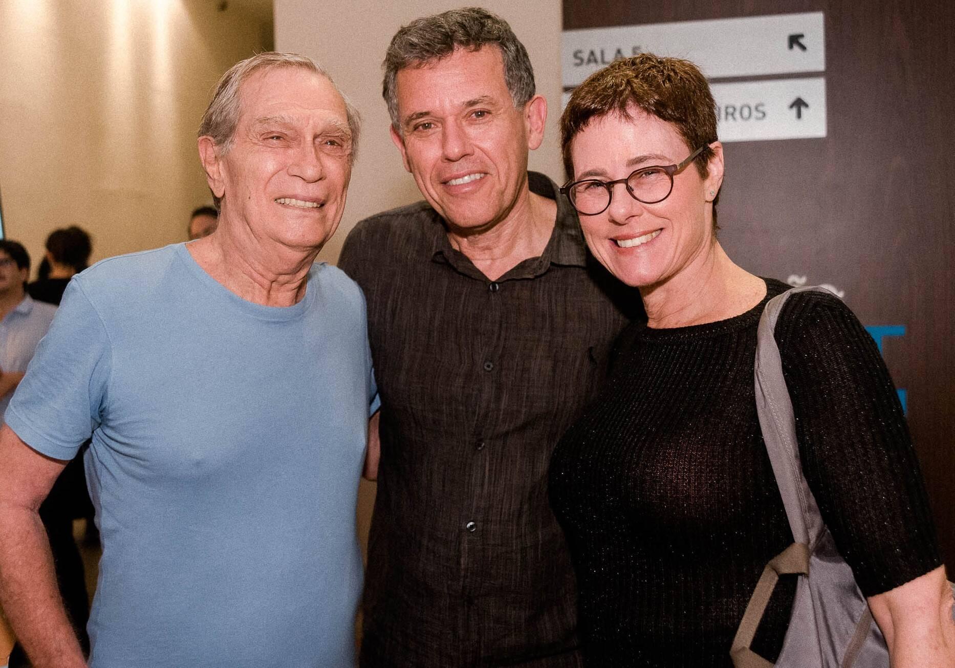 Jorge Mautner, Nilton Bonder e Esther Bonder /Foto: Renato Wrobel
