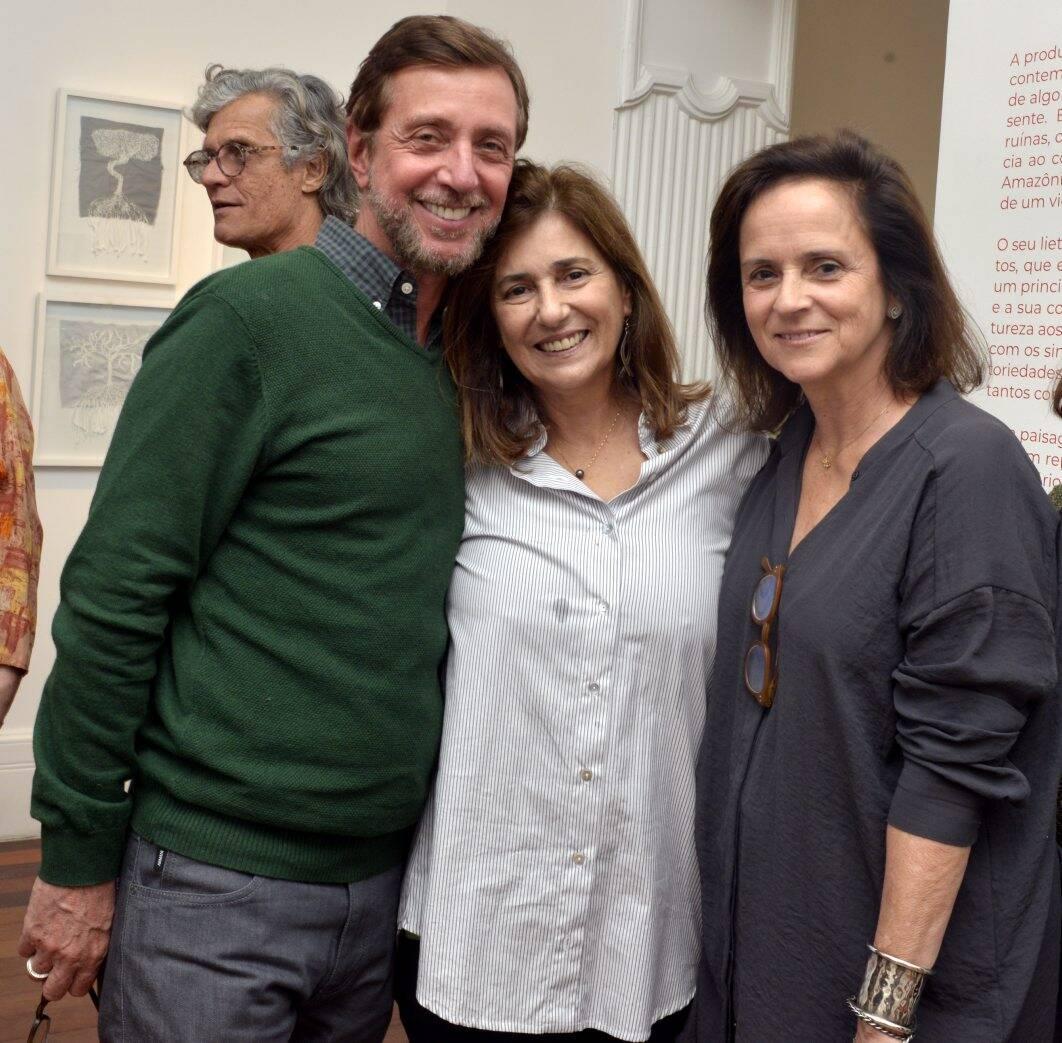 Nando Grabowsky , Patricia Maciel de Sá e   Patricia Quentel  / Foto: Cristina Granato