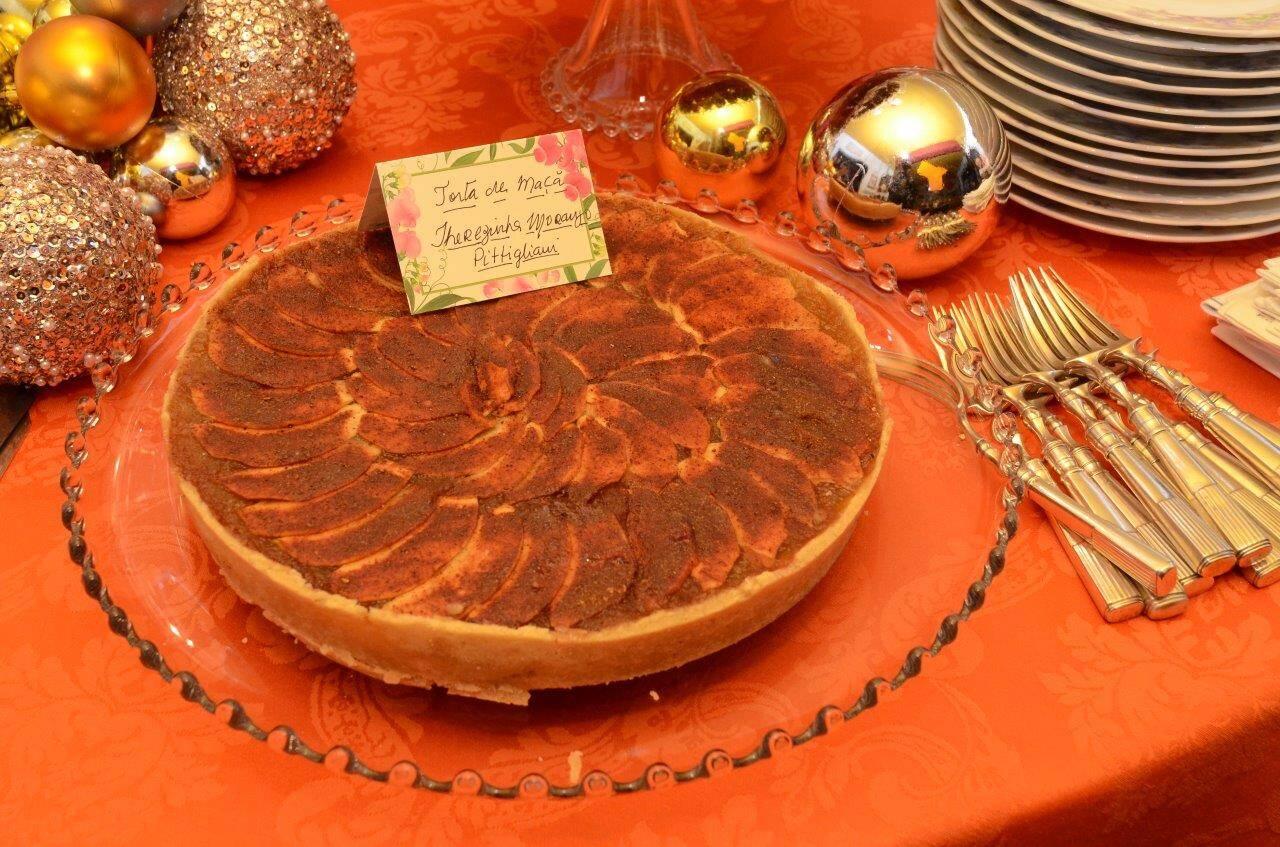A torta de maça de Terezinha Pittigliani  /Foto: Marco Rodrigues